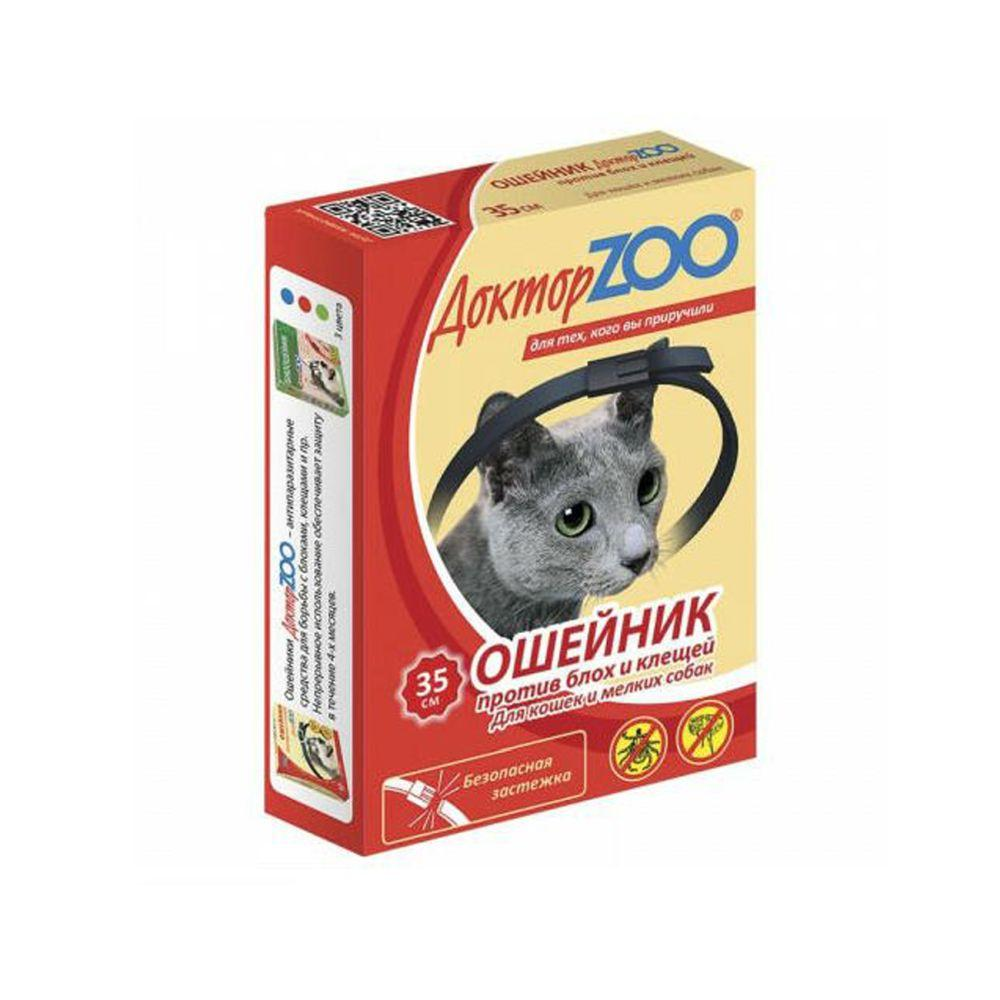Доктор Зоо Ошейник против блох и клещей для кошек и мелких собак