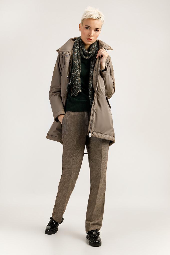 Пальто женское Finn Flare A19-11016 коричневое XL фото
