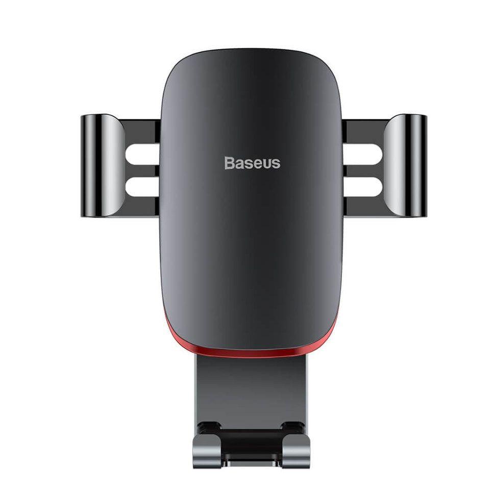 Автомобильный держатель для телефона в дефлектор Baseus Metal Age Gravity -Черный SUYL-D01