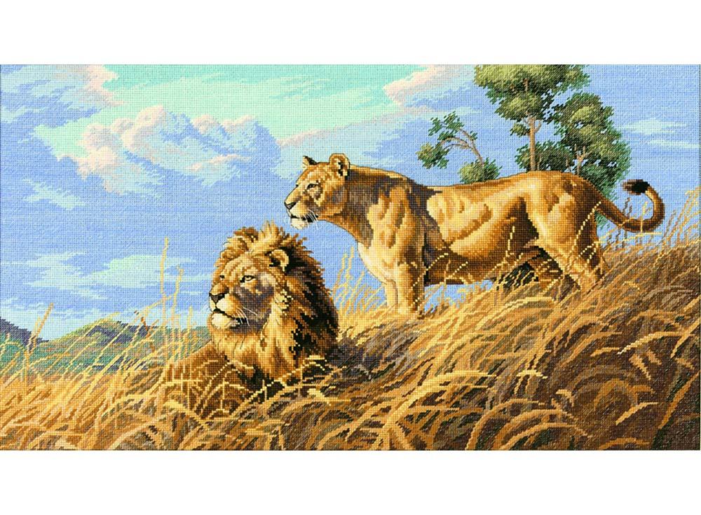 Набор для вышивания Dimensions Африканские львы, арт.123649