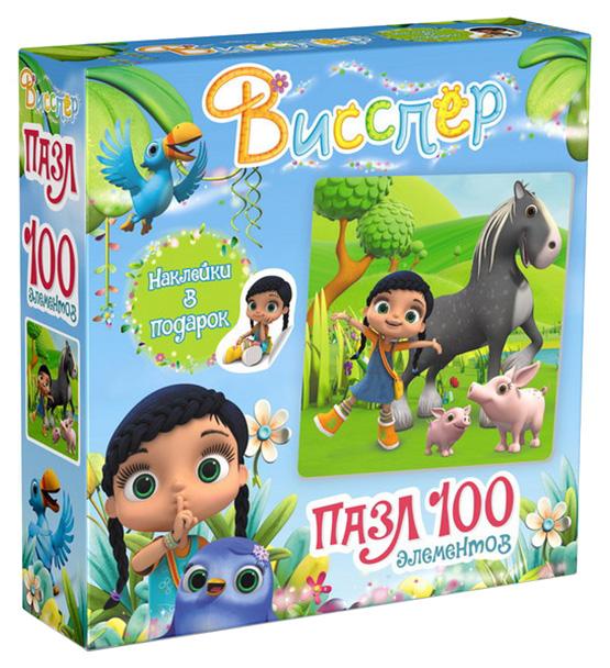 Купить Пазл Origami 100 Висспер И Лошадка + Наклейки, Пазлы