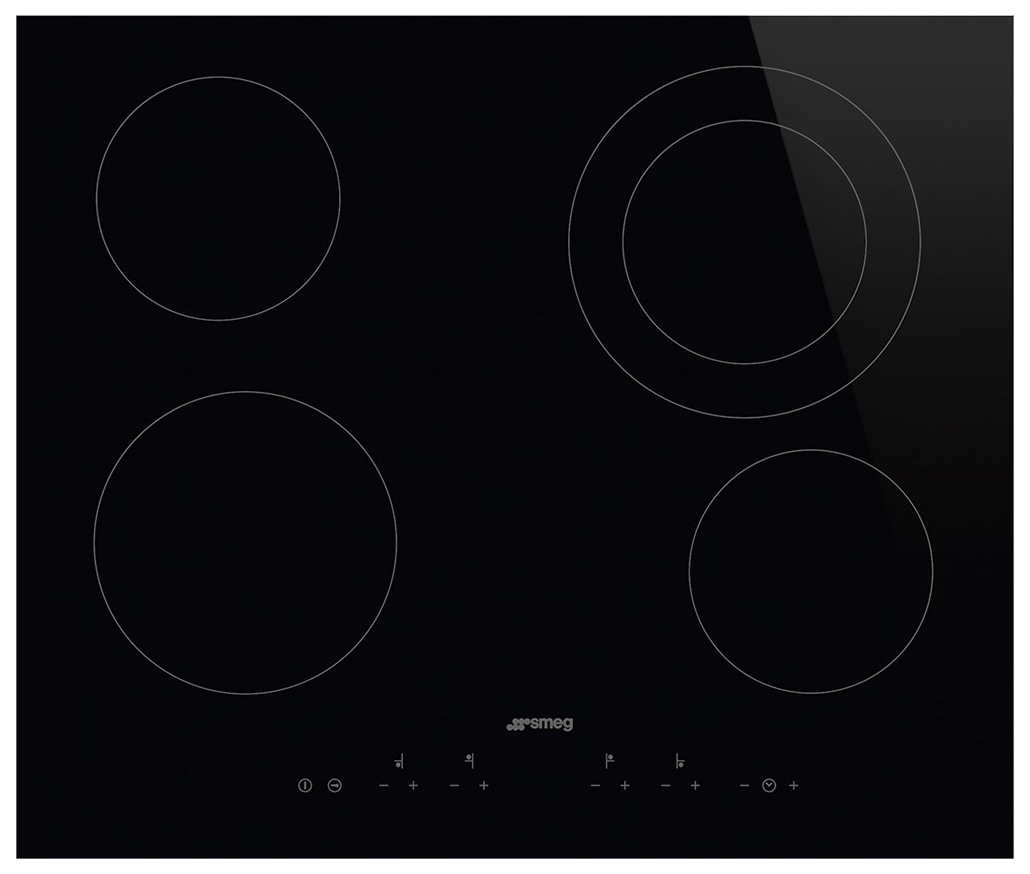 Встраиваемая варочная панель электрическая Smeg SE364ETD Black