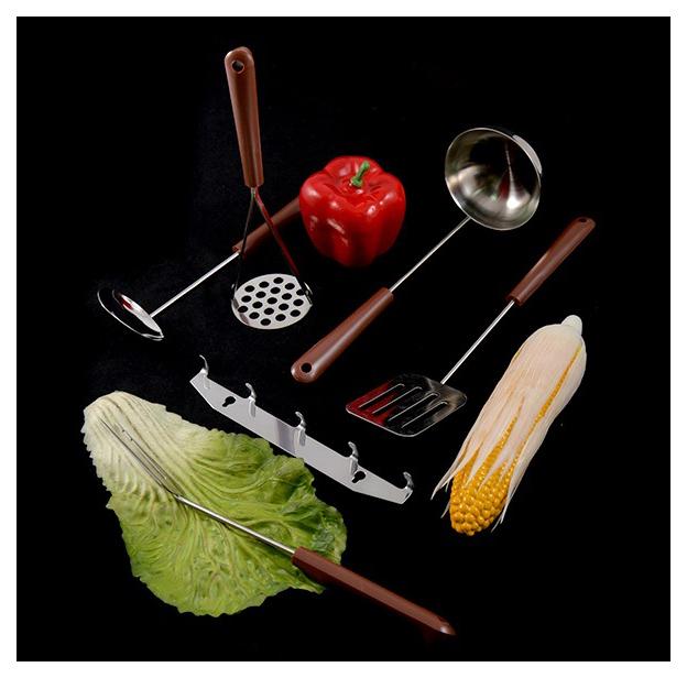 Набор кухонных принадлежностей Амет 1С131 Коричневый