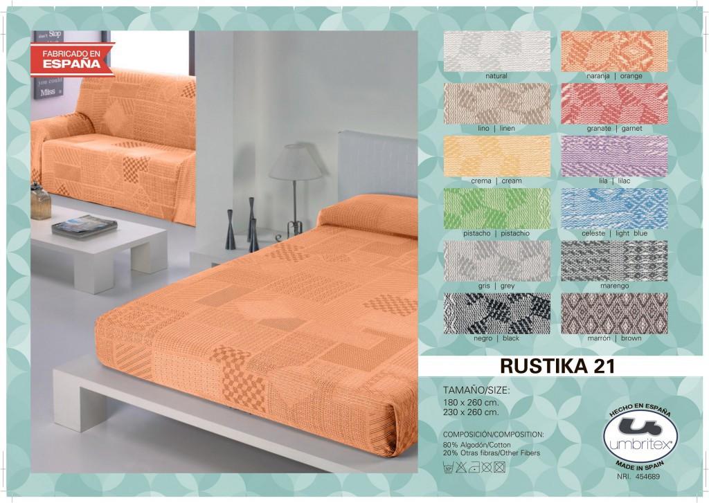 Покрывало-плед UMBRITEX арт,Rustica21 orange разм,180х260