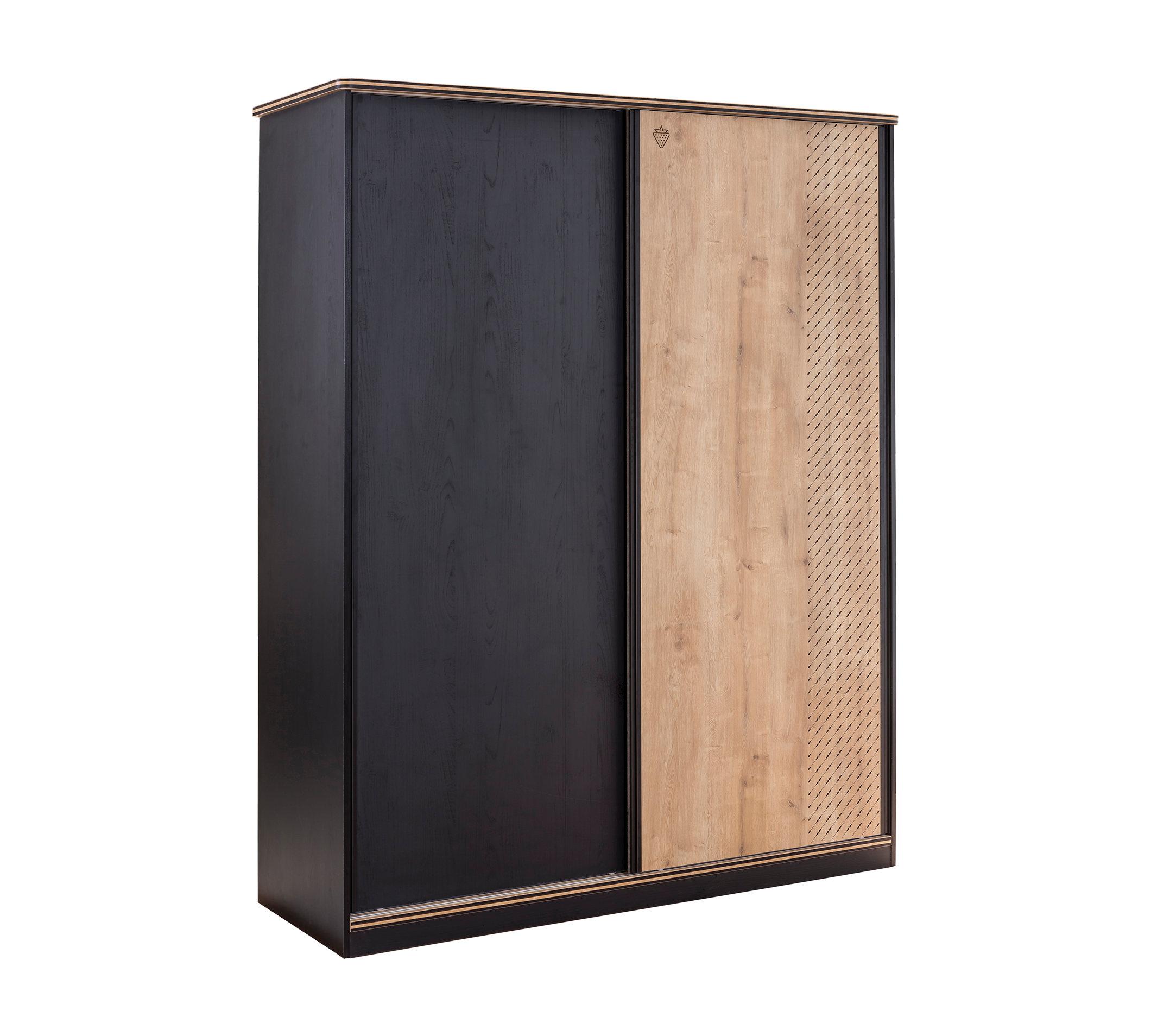 Купить Шкаф Cilek Black большой, со сдвижными дверями, Шкафы в детскую комнату