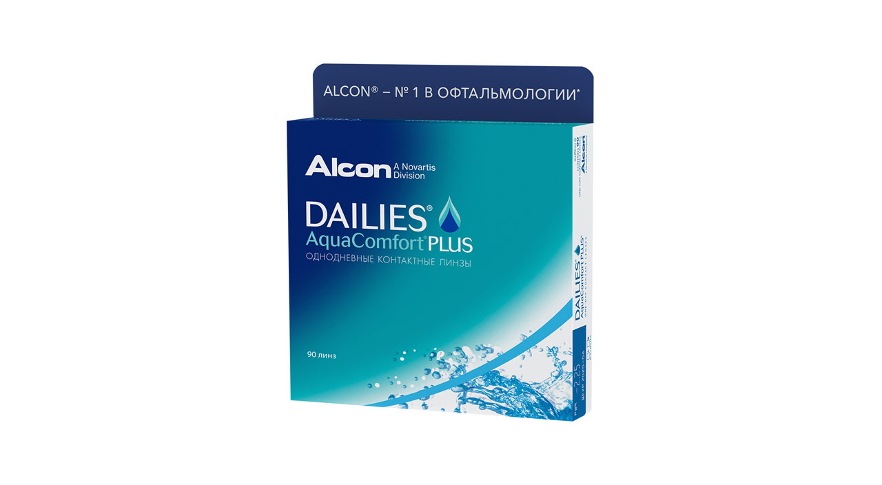 Купить Контактные линзы Dailies AquaComfort Plus 90 линз +4, 50
