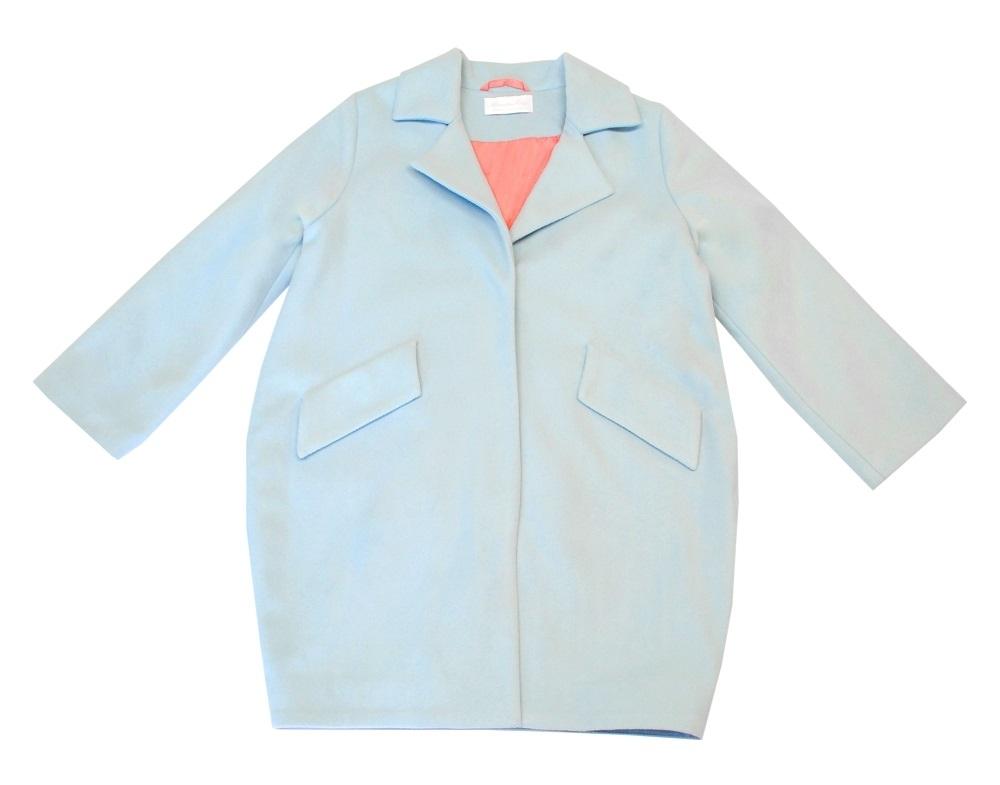 Пальто Bon&Bon голубое Кокон 600 р.128