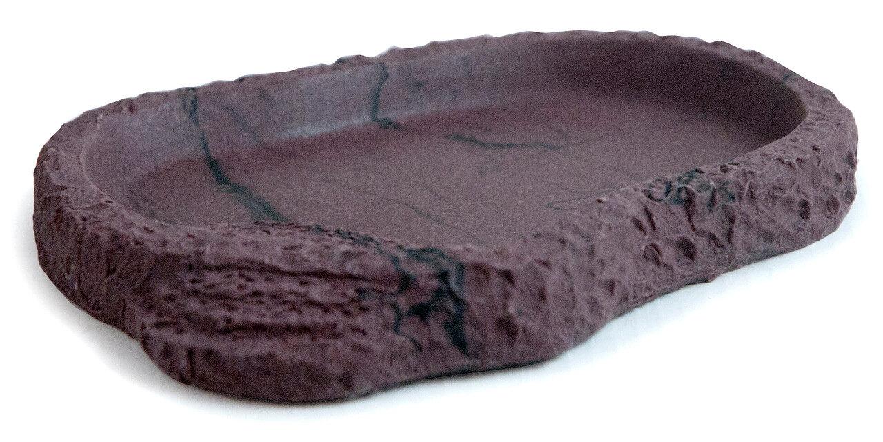Кормушка-поилка для рептилий LUCKY REPTILE Dish Lava, коричневая, 13 х 9,5 х 1,8 см