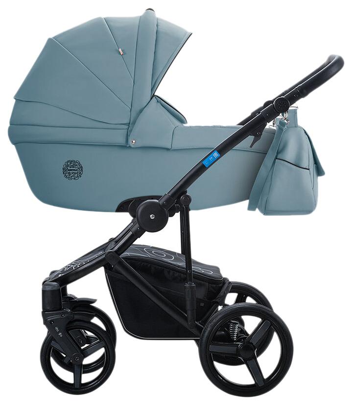 Купить Коляска 2 в 1 AroTeam Bartolo Prima Серо-голубая кожа УТ0010328, Детские коляски 2 в 1