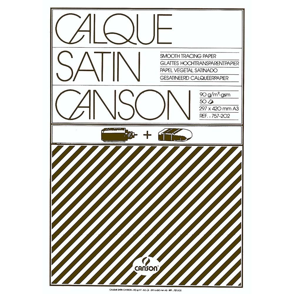 Canson Калька в склейке CANSON, 90г/м2, 30х42см (А3), 50 листов фото