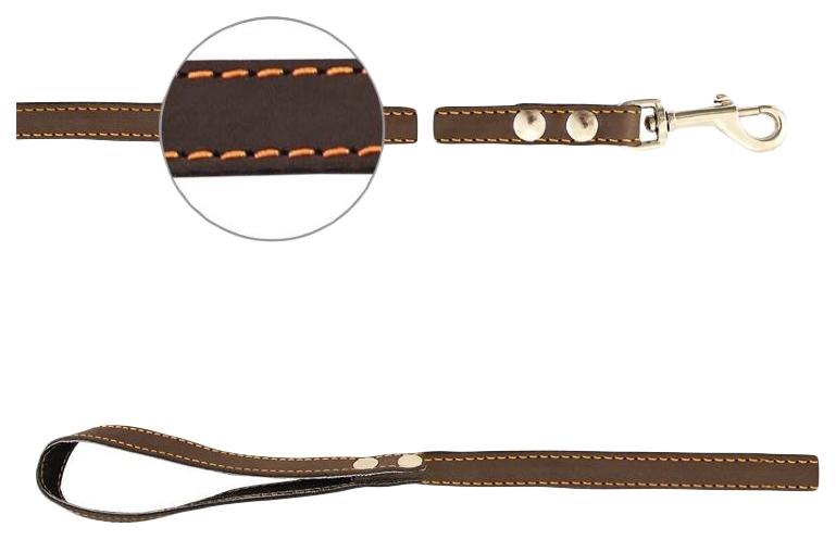 Поводок для собак Gamma кожаный №16