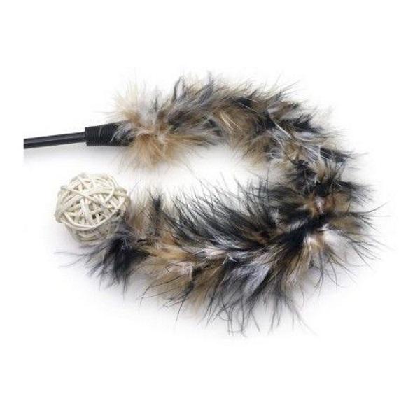 Дразнилка для кошек Nems, перья, пластик, текстиль,