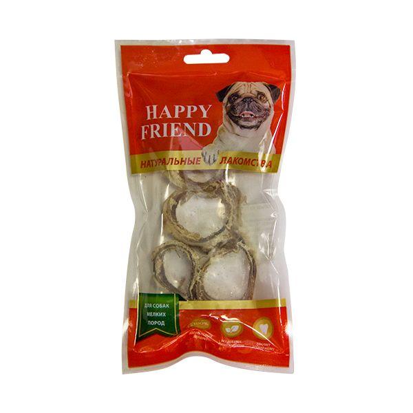 Лакомство для собак HAPPY FRIEND Кольца из говяжьей трахеи для мелких пород 40г.
