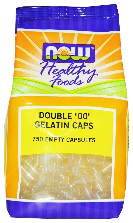 Купить Добавка для здоровья NOW Empty Gelatin 750 капс. натуральный