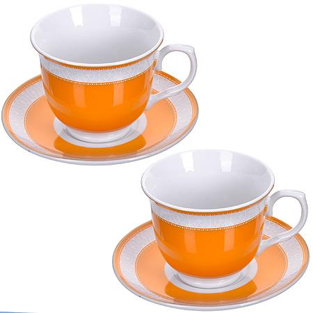Чайный сервиз LORAINE розовая 28637 2 пер. фото