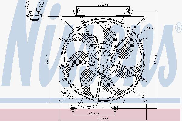 Вентилятор охлаждения двигателя NISSENS 85014