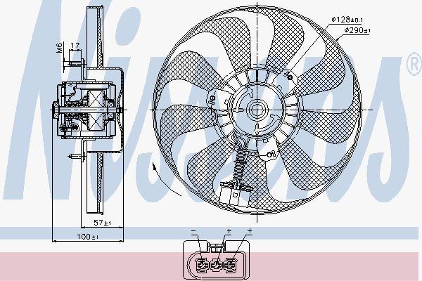 Вентилятор охлаждения двигателя NISSENS 85684