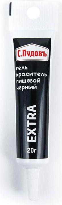 Пищевой краситель гелевый черный С.Пудовъ 20 г фото