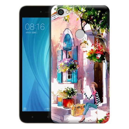 Чехол Gosso Cases для Xiaomi Redmi Note 5A Prime «Девочка на цветущей улочке»
