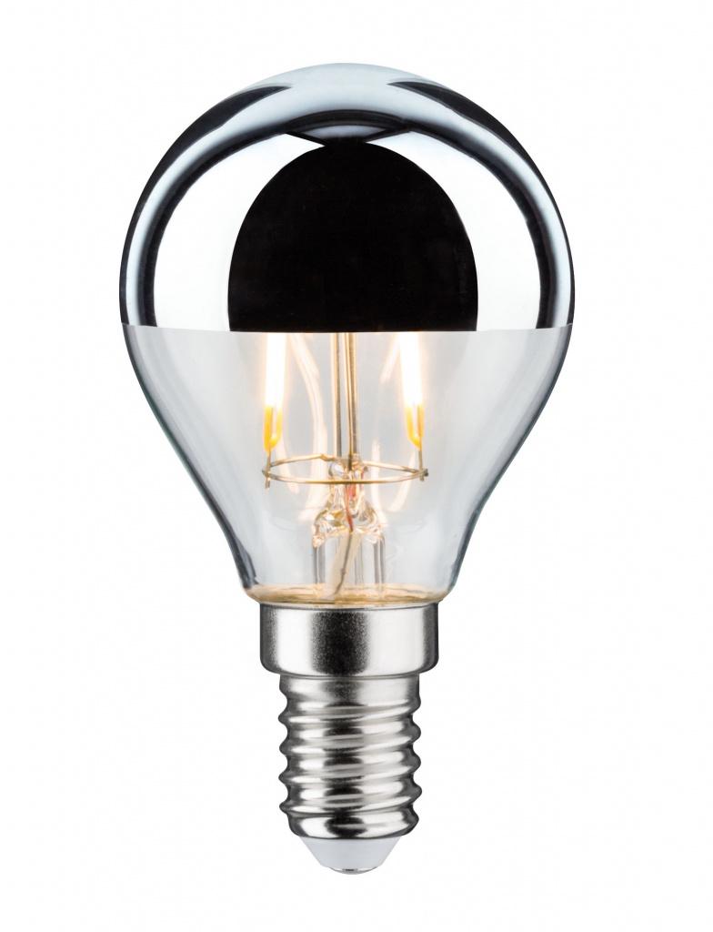 Светодиодная лампа Капля 2,6 Вт E14 Зеркально-серебристый верх Теплый белый 28663