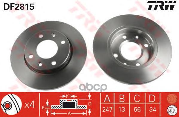 Тормозной диск TRW DF2815