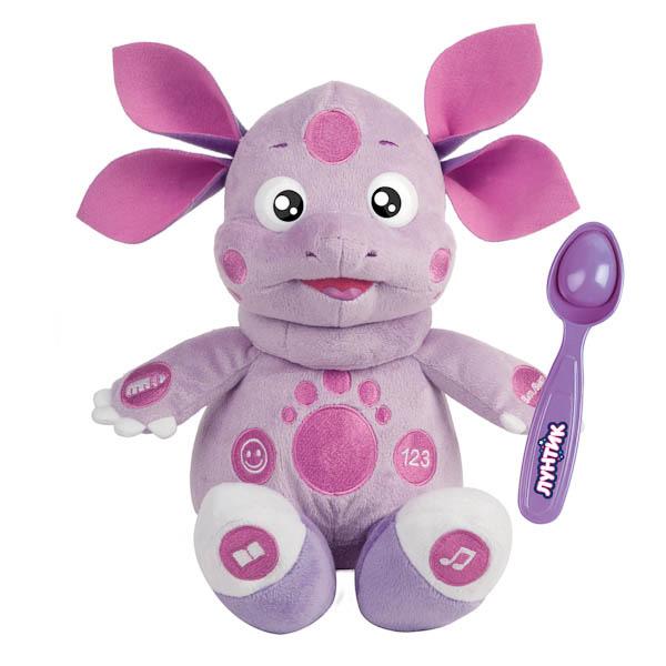 Мягкая игрушка Мульти-Пульти Лунтик кушает с ложечки, 10 функций в дисплее 24 см
