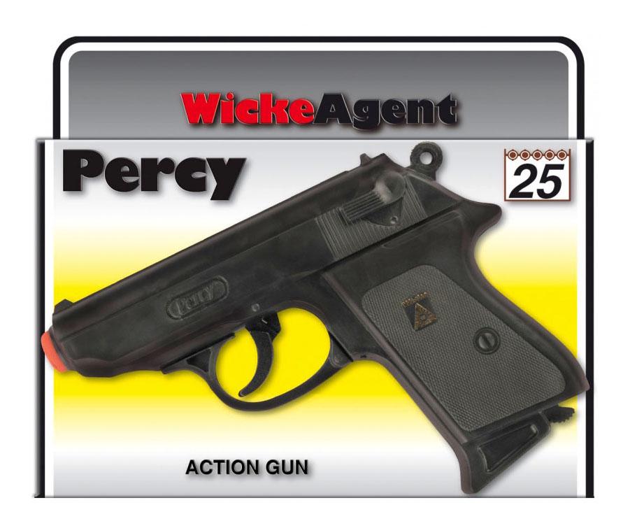 Пистолет игрушечный Percy 25 зарядные Gun, Agent