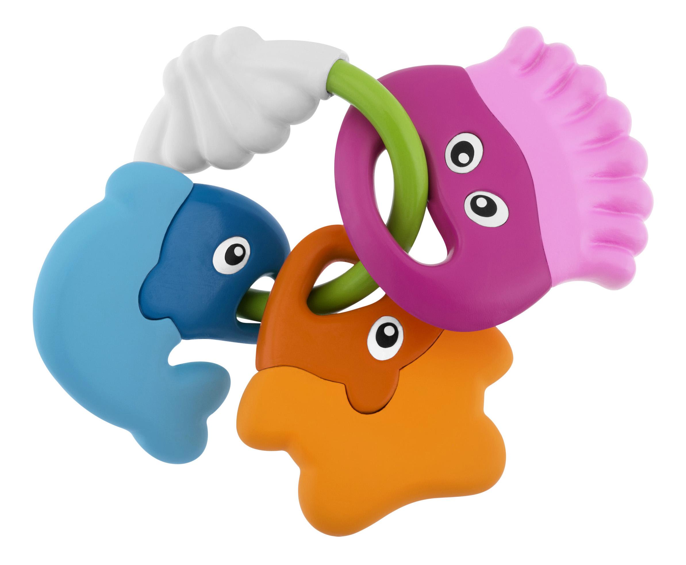 картинка Погремушка Chicco в форме рыбок Морские животные 7700 от магазина Bebikam.ru