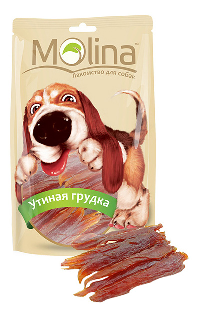 Лакомство для собак Molina Утиная грудка, 80г