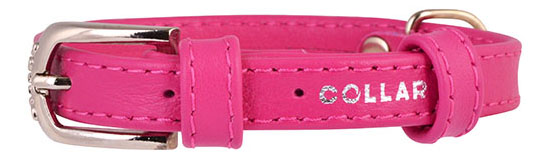 Ошейник COLLAR GLAMOUR без украшений, 20мм, 30-39см, розовый фото