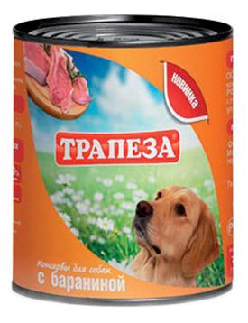 Консервы для собак Трапеза, баранина, 9шт, 750г