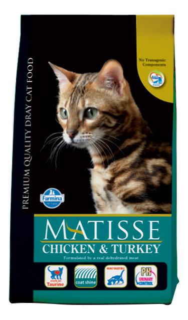 Сухой корм для кошек Farmina Matisse, курица, индейка, 1,5кг фото