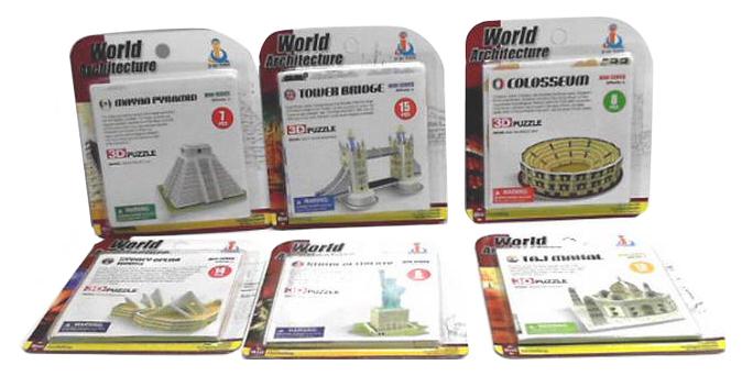 Купить Достопримечательности мира 6 видов в ассортименте 12, 5x0, 5x14см, Пазл Shantou Gepai Достопримечательности мира, в ассортименте, Пазлы