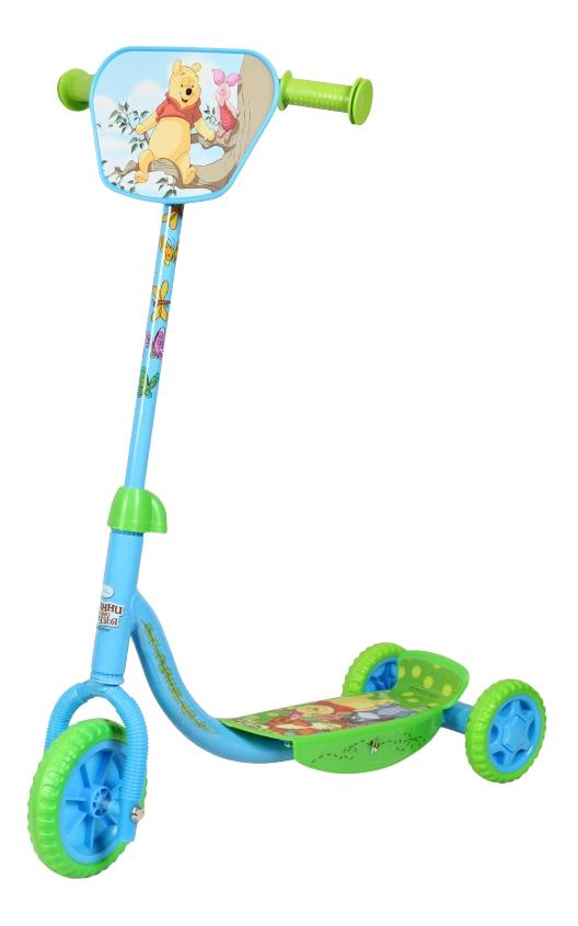Купить Самокат трехколесный Disney Т58423 голубой-зеленый, Самокаты детские трехколесные