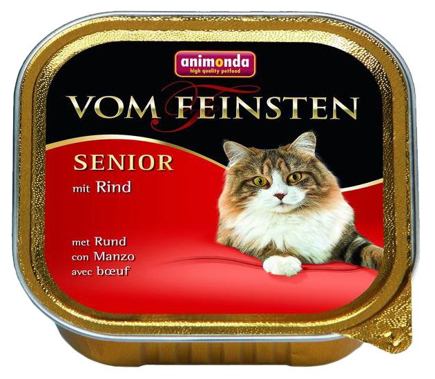 Консервы для кошек Animonda Vom Feinsten Senior, говядина, 100г фото