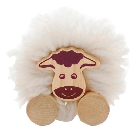 Купить Каталка детская МДИ Помпон-Овечка, Мир Деревянных Игрушек, Игрушечные машинки