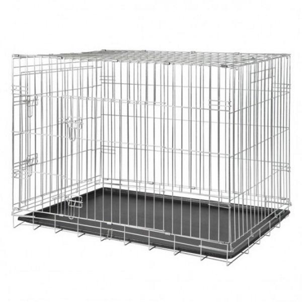 Транспортная клетка для собак TRIXIE 78х55х62 см, двухдверная,