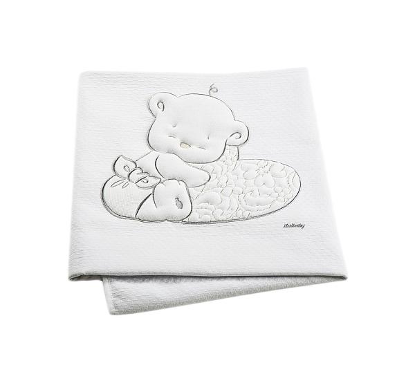 Покрывало Baby Expert LOVE 110х150 пике белый