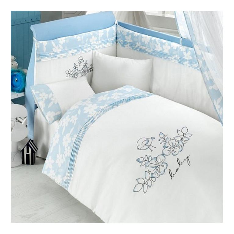 Комплект детского постельного белья Bebe Luvicci Baby Birdie 6 предмета