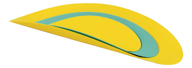 Набор из 3х стальных блюд Ellipse (бирюзовый & желтый)