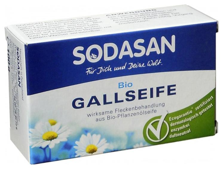 Пятновыводитель Sodasan мыло желчное 100 г