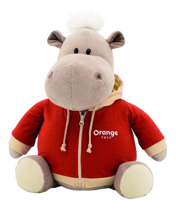 Мягкая игрушка Orange Toys Бегемот в оранжевой толстовке 30 см
