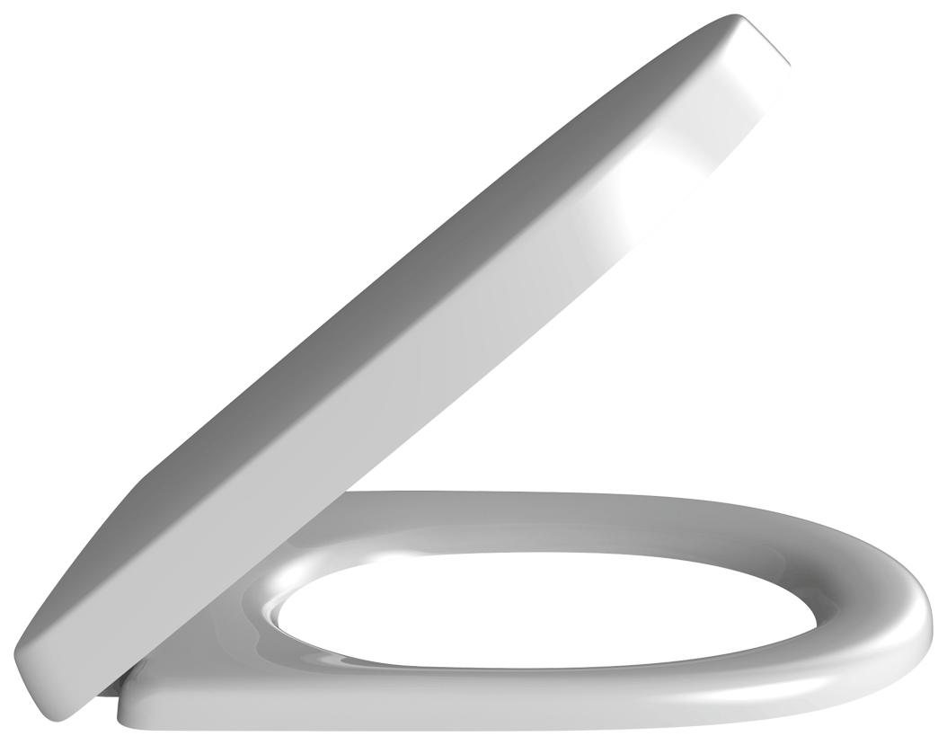 Сиденье для унитаза с мех,плав,закр, бел,Альпин/сталь V#and#В O,NOVO 9M38S101, 1 шт