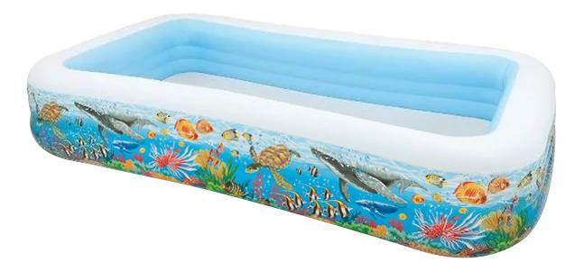 Купить Бассейн, Детский надувной бассейн Intex, 58485 305х183х56см Тропический риф 999л, от 6 лет, Детские бассейны