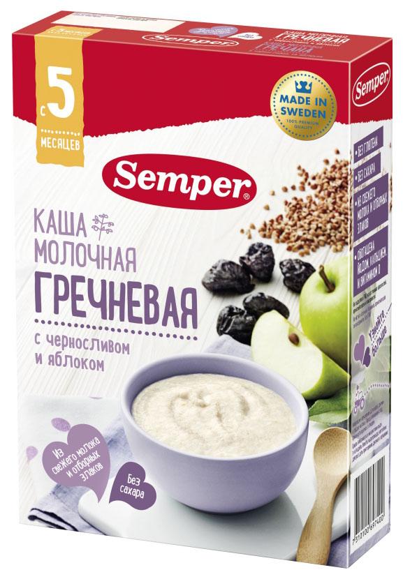 Купить Каша молочная Semper Гречневая с черносливом и яблоком с 5 мес. 200 г,