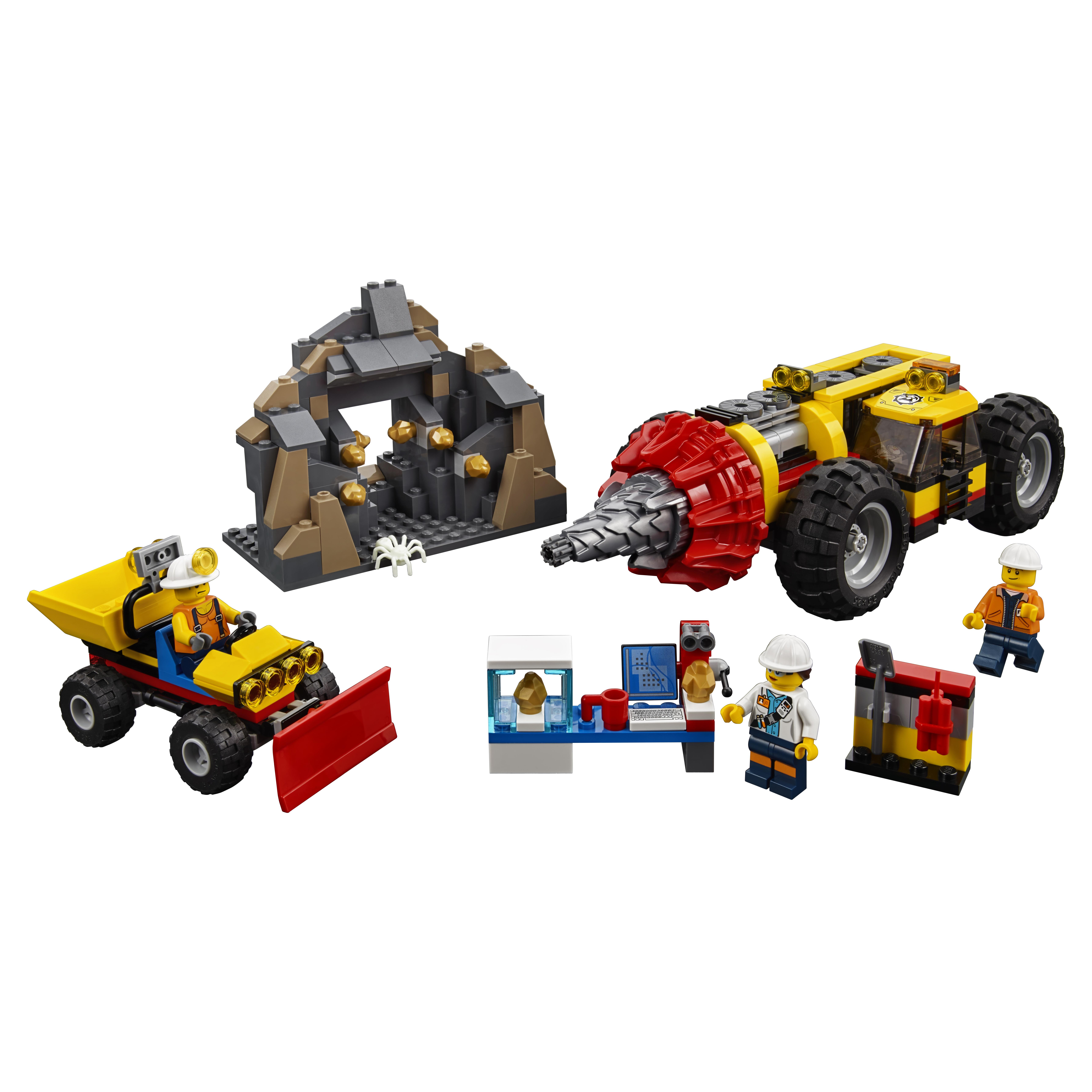 Конструктор lego city mining тяжелый бур для горных работ (60186), Конструктор LEGO City Mining Тяжелый бур для горных работ (60186)  - купить со скидкой