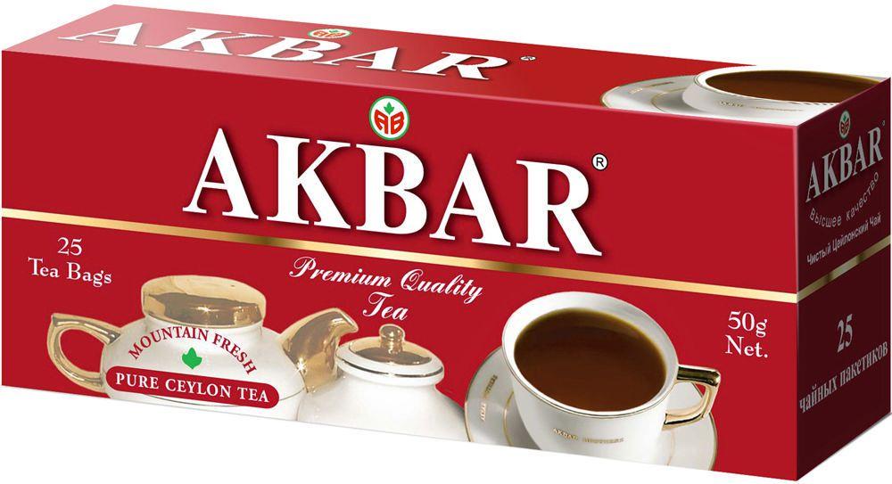 Чай черный Akbar 25 пакетиков фото