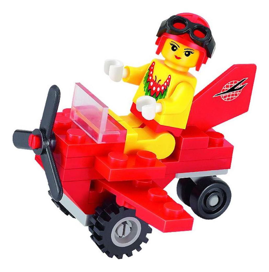 Конструктор пластиковый Brick Мини самолет