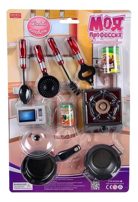 Купить Давай готовить, Игровой набор Zhorya повара моя профессия давай готовить zyk-k2245-1, Детская кухня