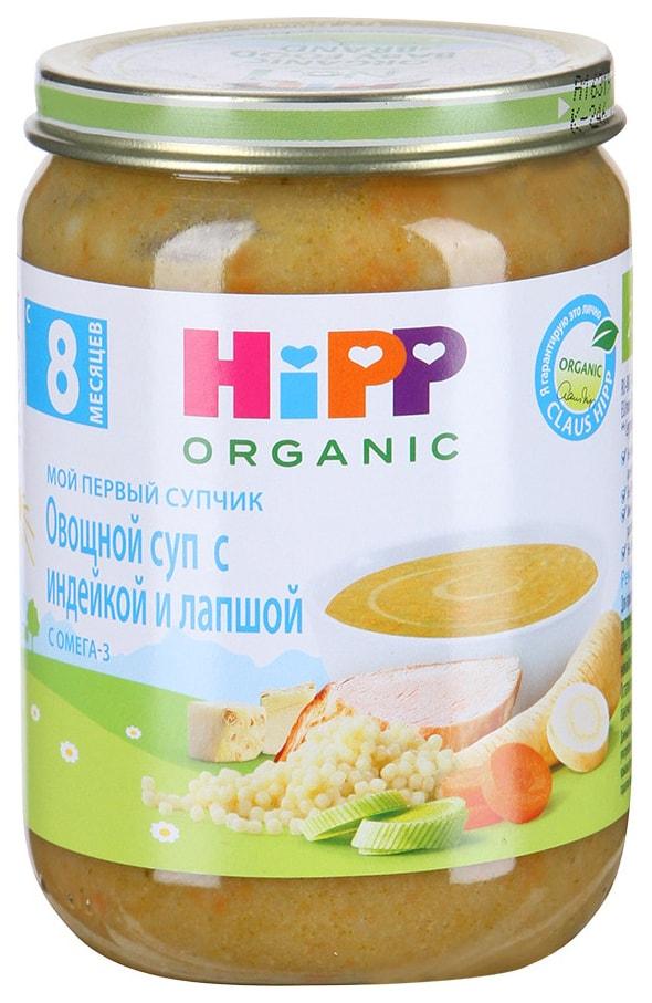 Суп Hipp Овощной с индейкой и лапшой